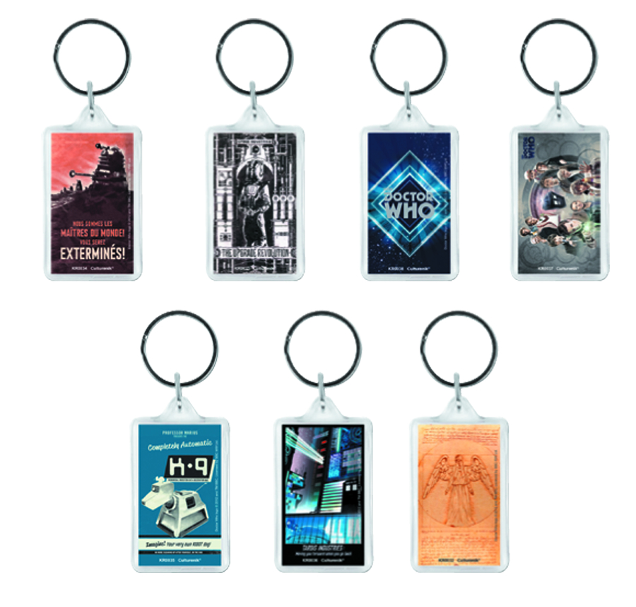 DOCTOR WHO CLASSIC 42PC KEYRING ASSORTMENT
