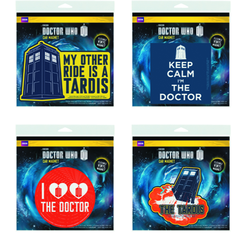 DOCTOR WHO 24PC CAR MAGNET ASSORTMENT