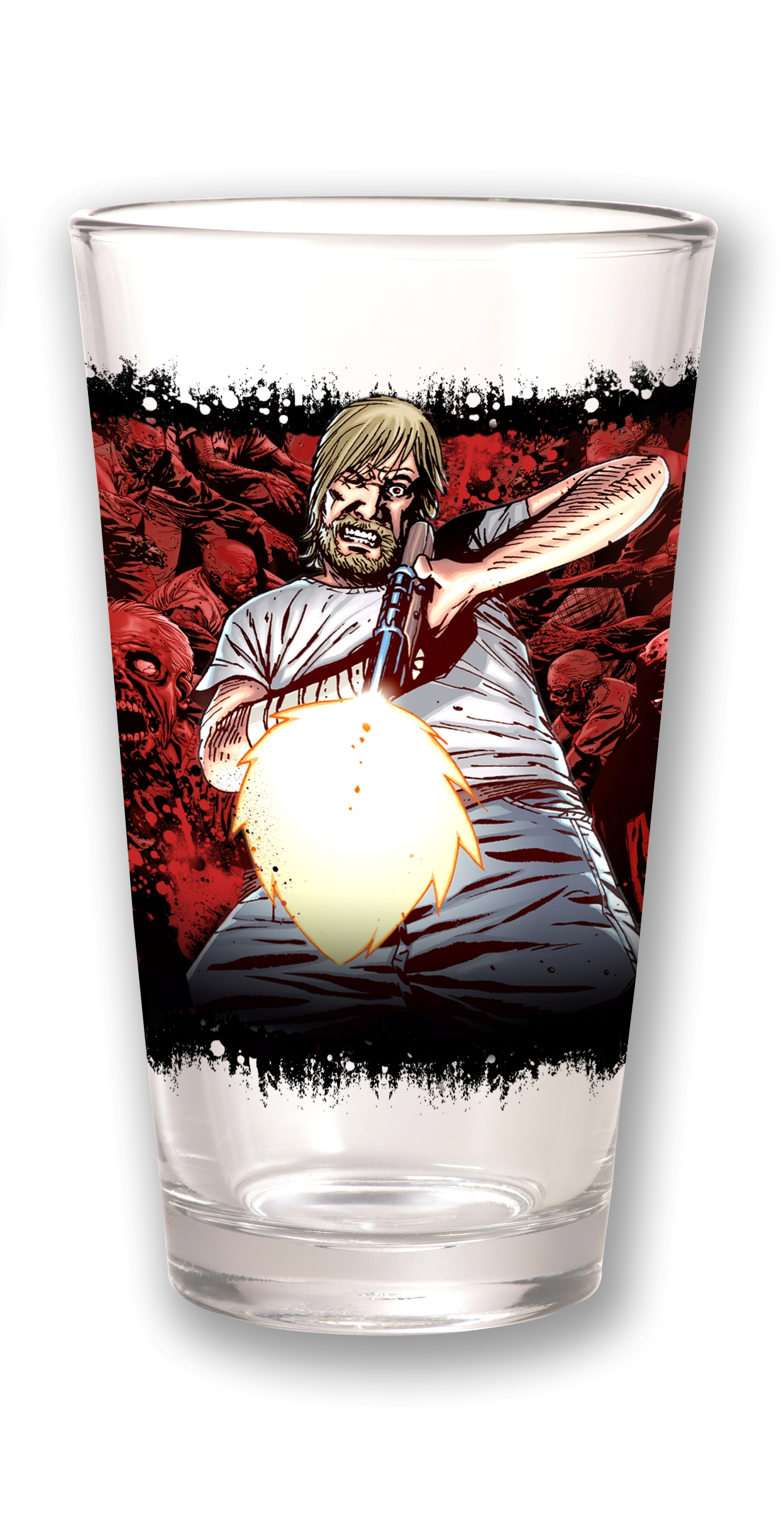 TOON TUMBLERS WALKING DEAD RICK I CLEAR PINT GLASS
