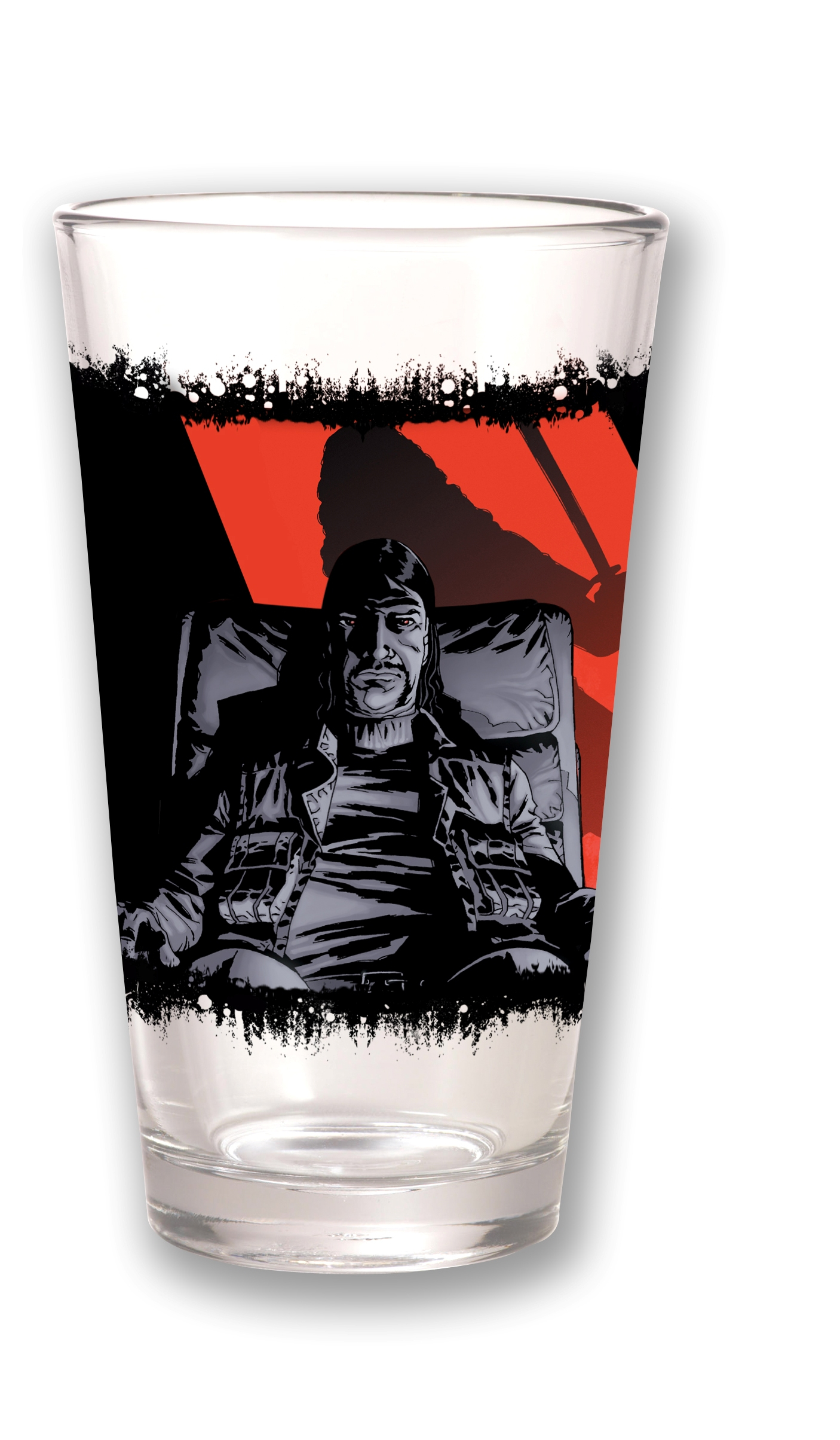 TOON TUMBLERS WALKING DEAD GOVERNOR CLEAR PINT GLASS