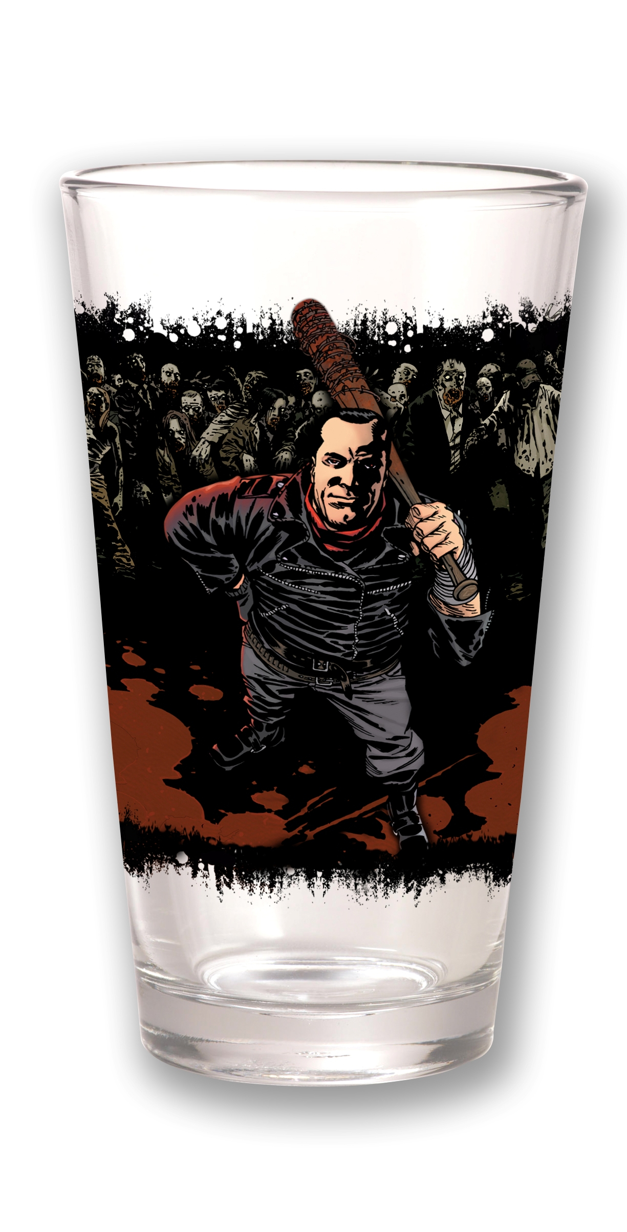 TOON TUMBLERS WALKING DEAD NEGAN CLEAR PINT GLASS
