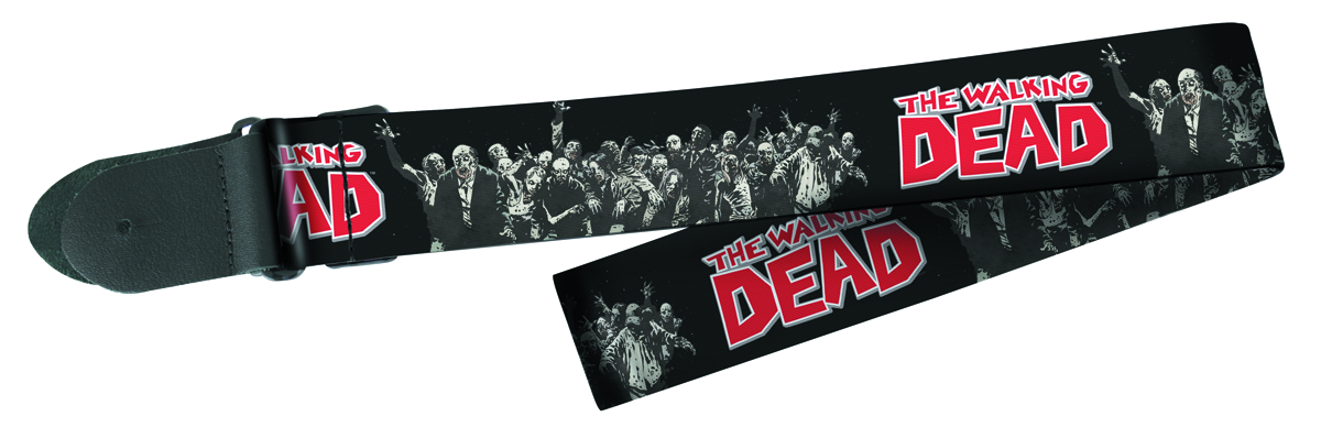 WALKING DEAD ZOMBIE GRP LOGO PX POLY GUITAR STRAP