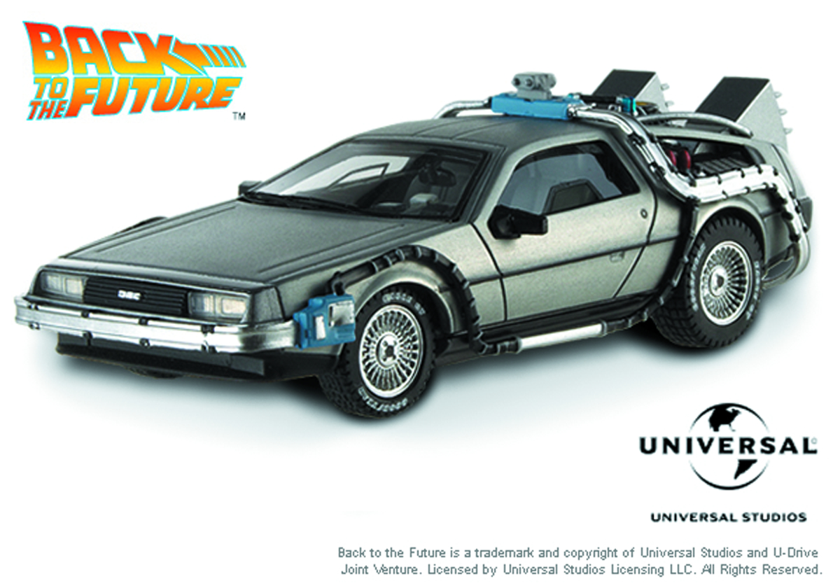 HW ELITE BTTF TIME MACHINE W/MR FUSION 1/18 DIE-CAST