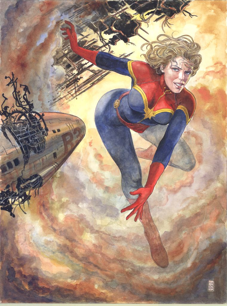 CAPTAIN MARVEL BY MANARA POSTER