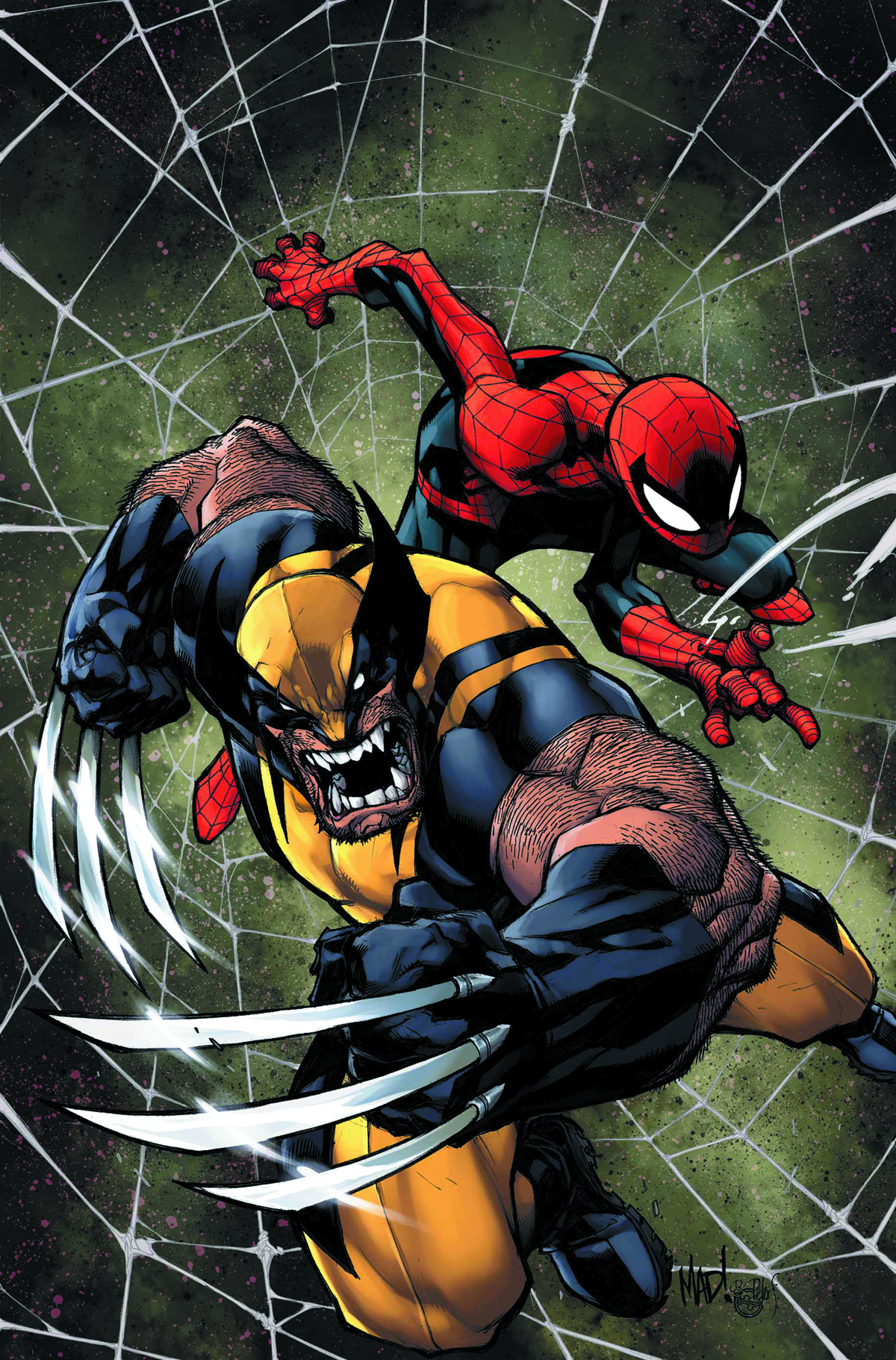 SAVAGE WOLVERINE SPIDER-MAN BY MADUREIRA POSTER
