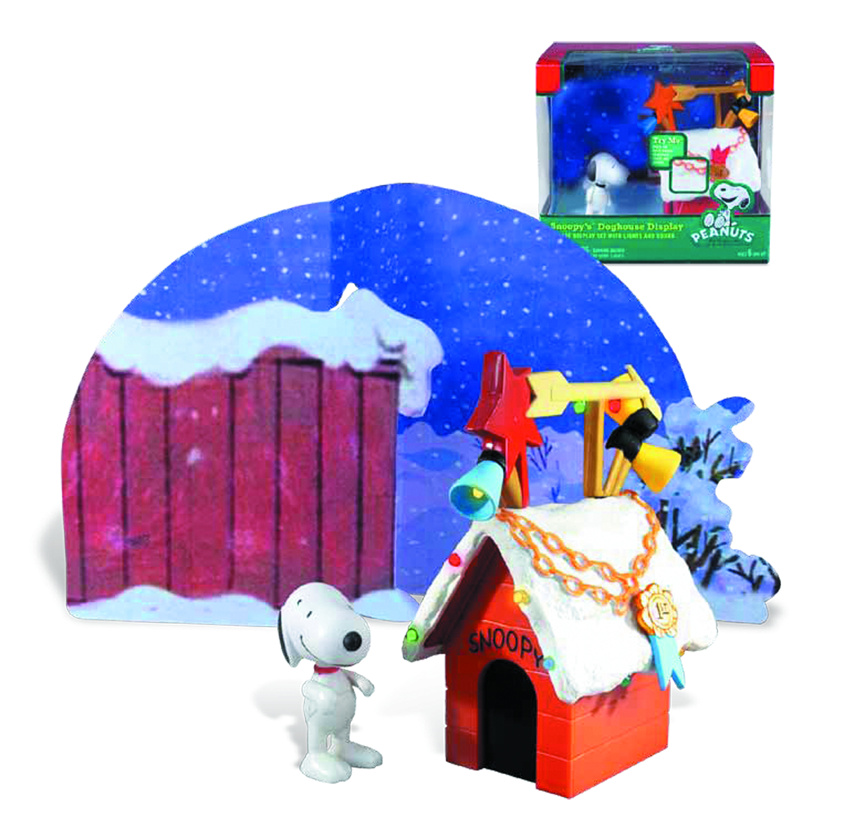 PEANUTS 2013 SNOOPY LIGHT & MUSIC DOGHOUSE
