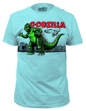GODZILLA AIR STRIKE LIGHT BLUE PX T/S LG