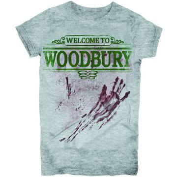WALKING DEAD WELCOME TO WOODBURY PX JRS T/S SM