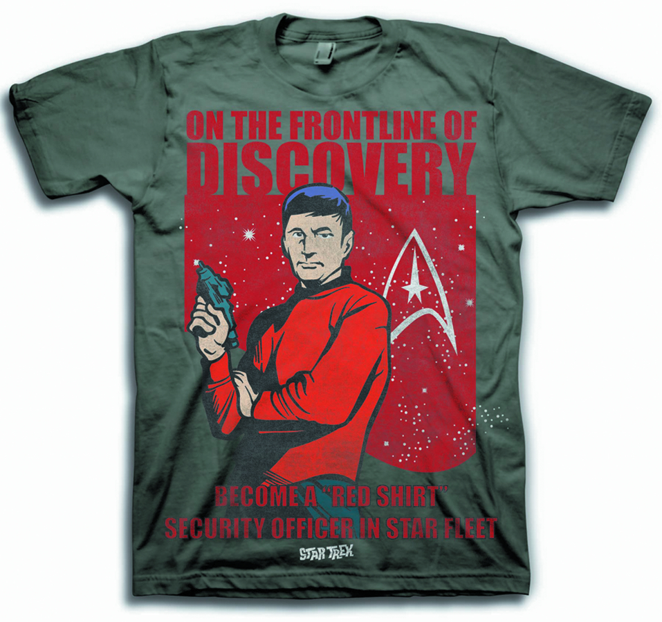 STAR TREK BECOME A REDSHIRT CHARCOAL T/S MED