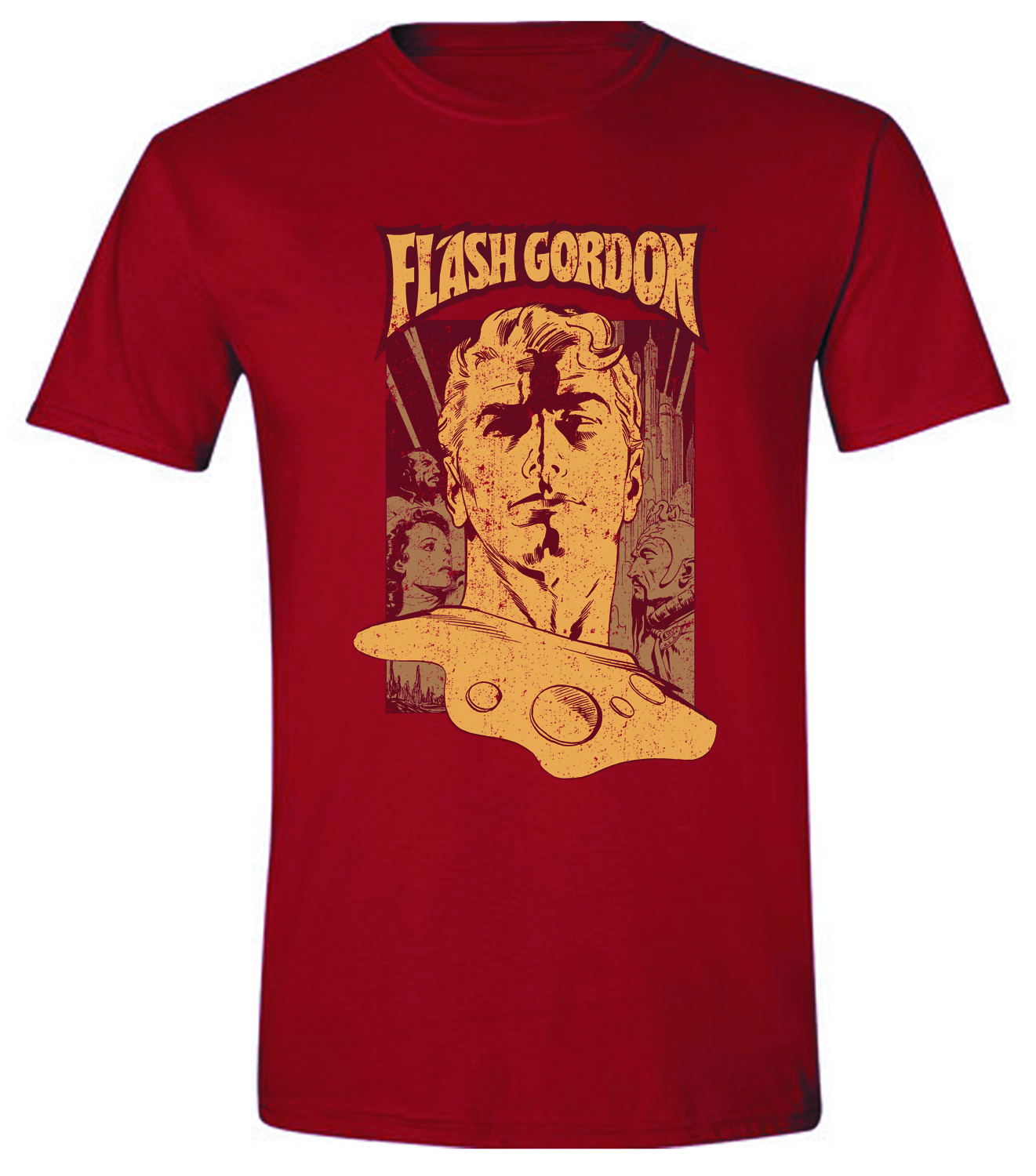 FLASH GORDON POSTER PX RED T/S LG