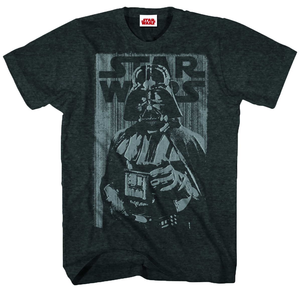 STAR WARS COOL AS ME PX BLK HEATHER T/S SM