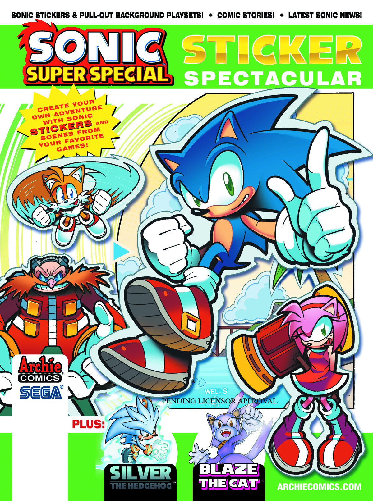 SONIC SUPER SPECIAL MAGAZINE #8 STICKER SPECTACULAR