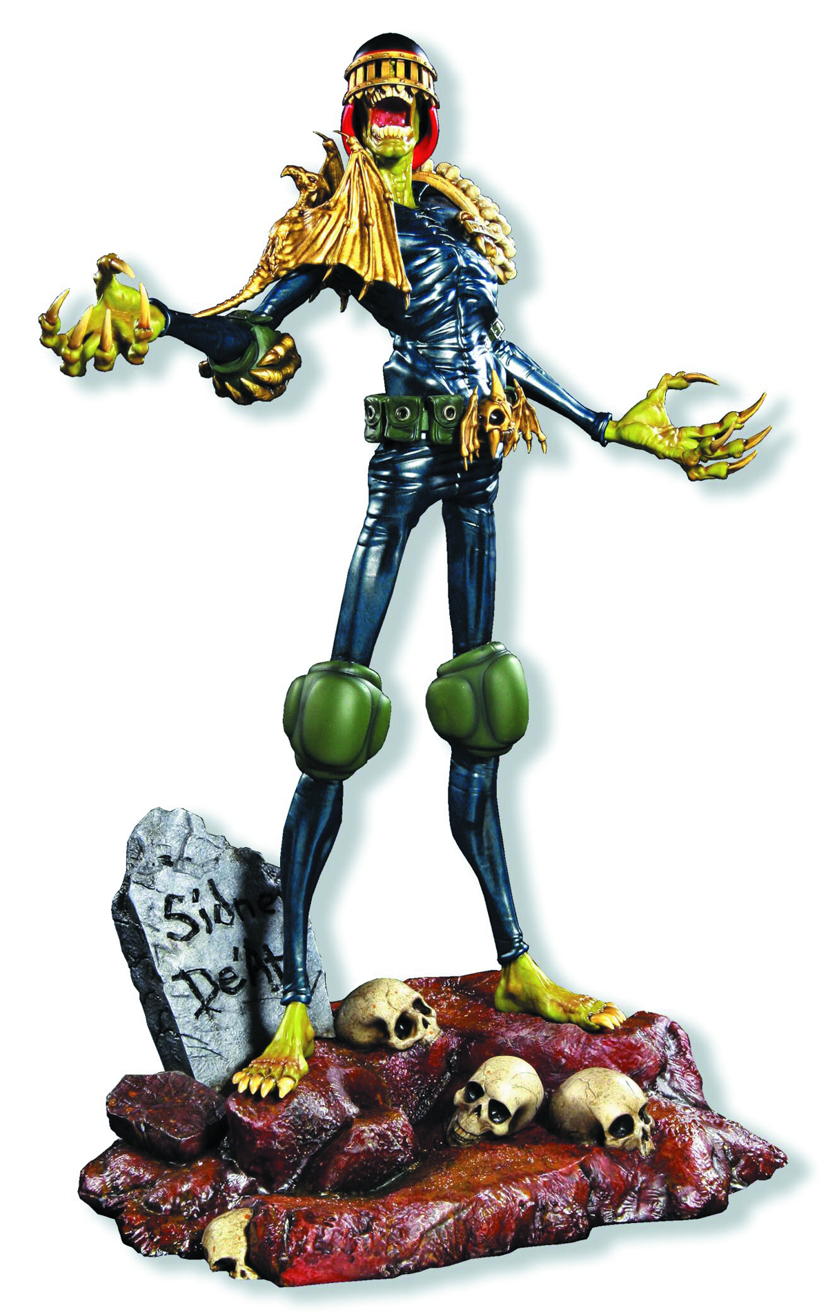JUDGE DREDD 1/4 SCALE JUDGE DEATH STATUE