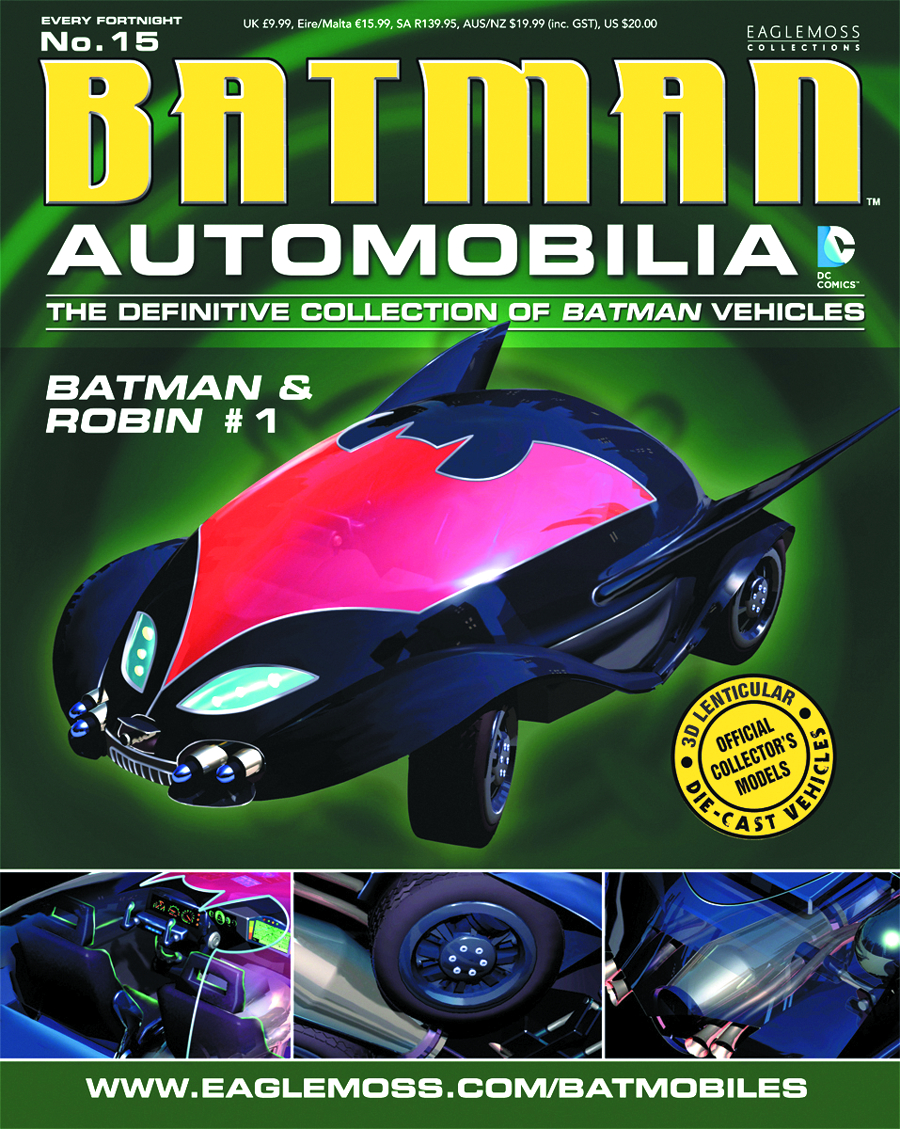 DC BATMAN AUTO FIG MAG #15 BATMAN & ROBIN #1 BATMOBILE