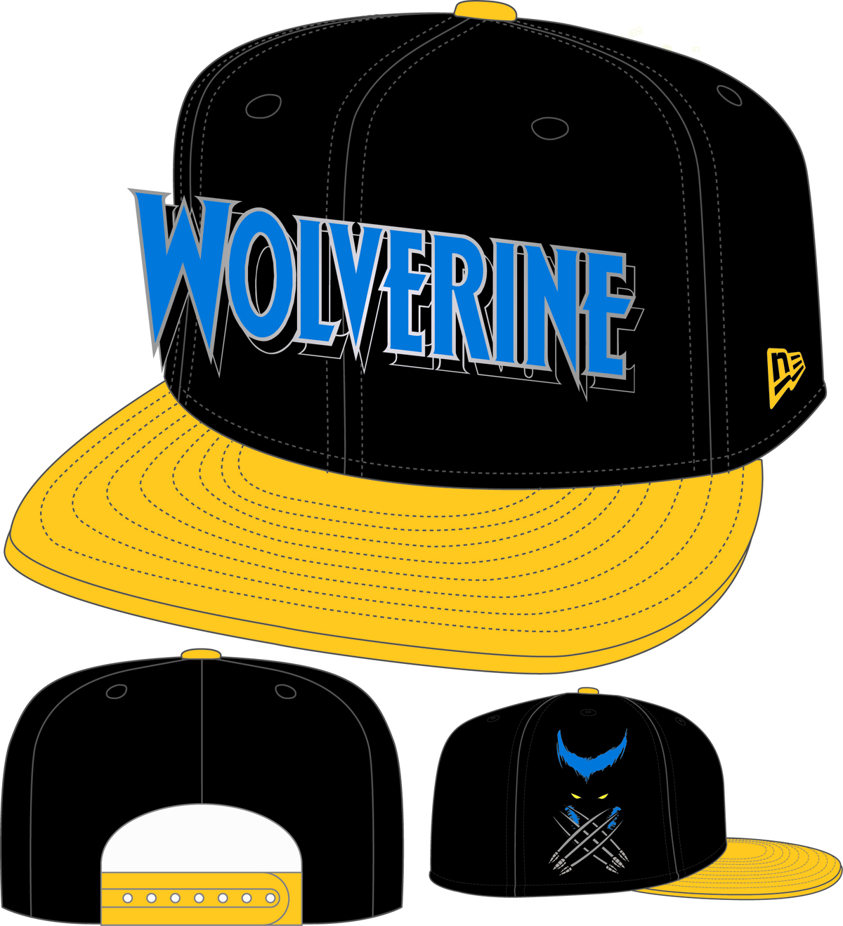 WOLVERINE WORD MARK SNAP BACK CAP