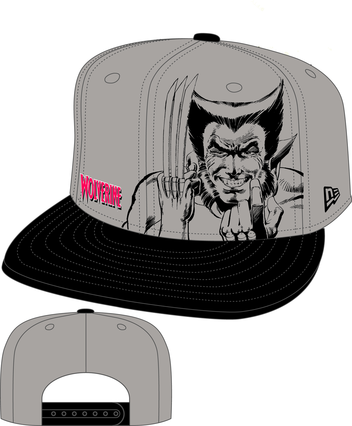 WOLVERINE PANEL FACE SNAP BACK CAP