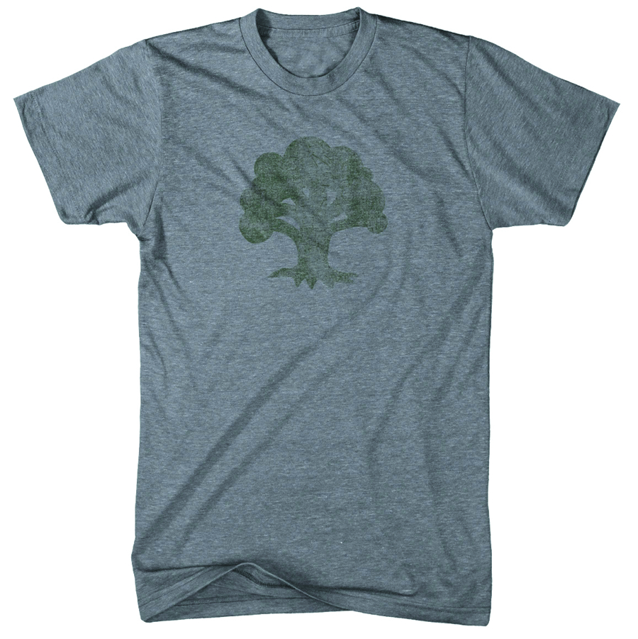 MTG GREEN FOREST MANA SYMBOL T/S SM