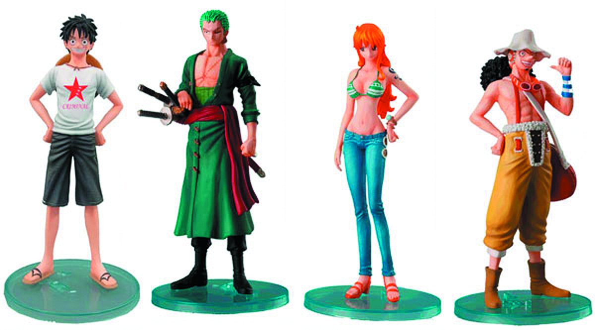 SUPER ONE PIECE STYLING EX ROOKIES TRAD FIG 6PC ASST