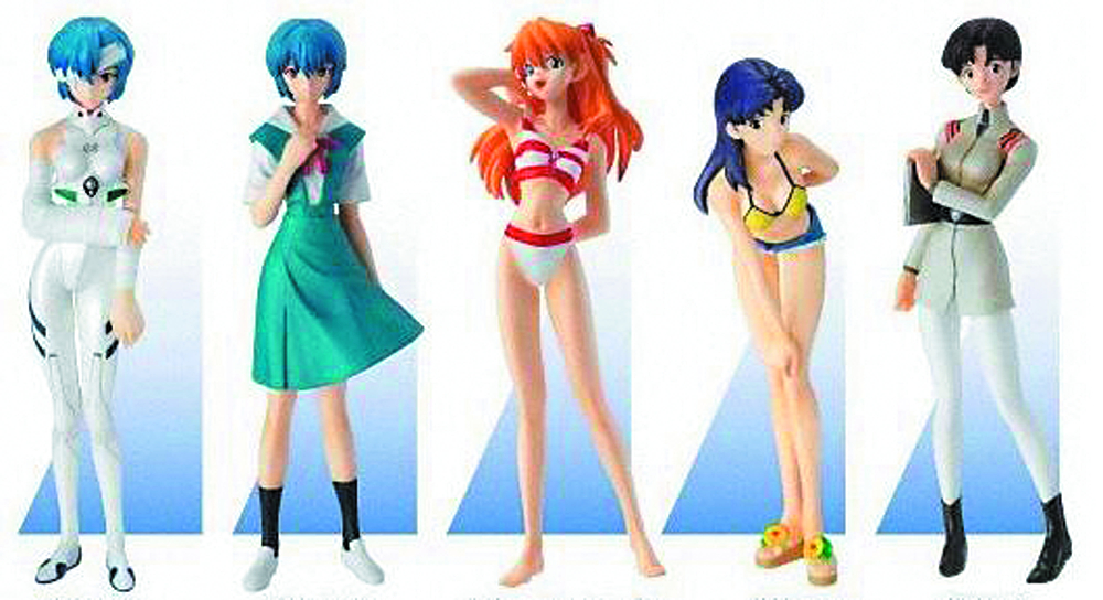 EVA PORTRAITS NEW MOVIE VER EX PORTRAITS TRAD FIG 6PC ASST