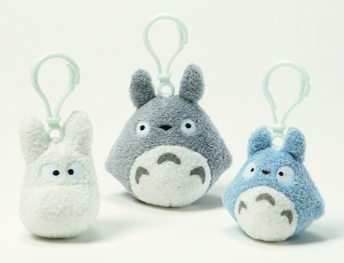MY NEIGHBOR TOTORO 3IN BACKPACK CLIP 6PC ASST