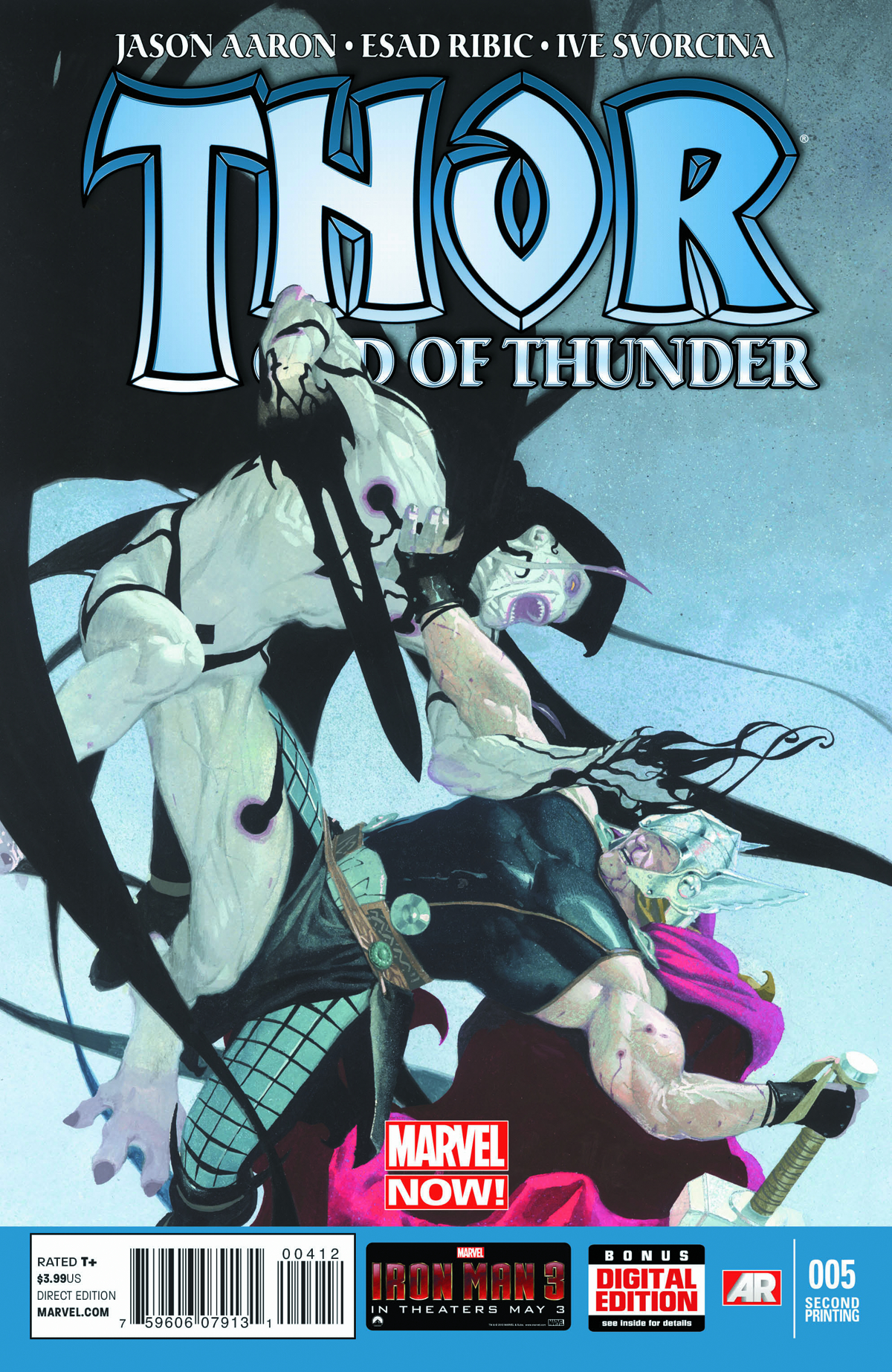 THOR GOD OF THUNDER #5 2ND PTG RIBIC VAR NOW