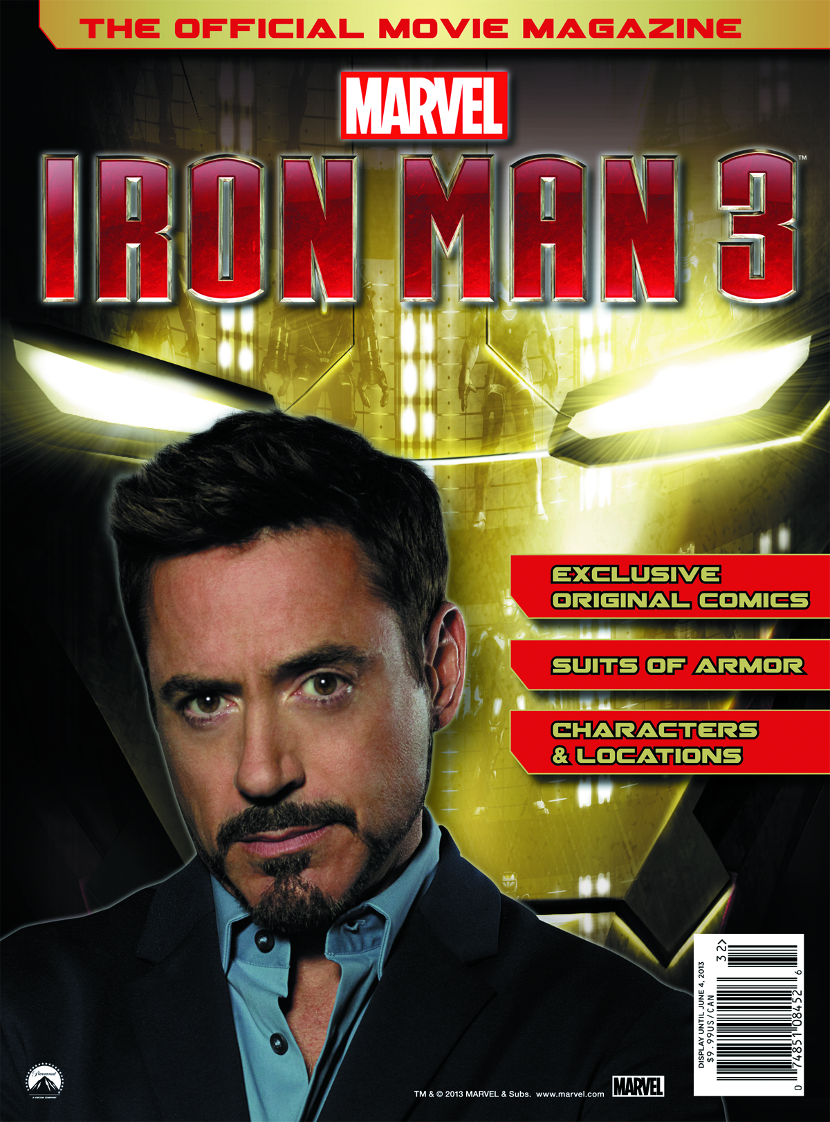 OFFICIAL MOVIE MAGAZINE MARVEL IRON MAN 3