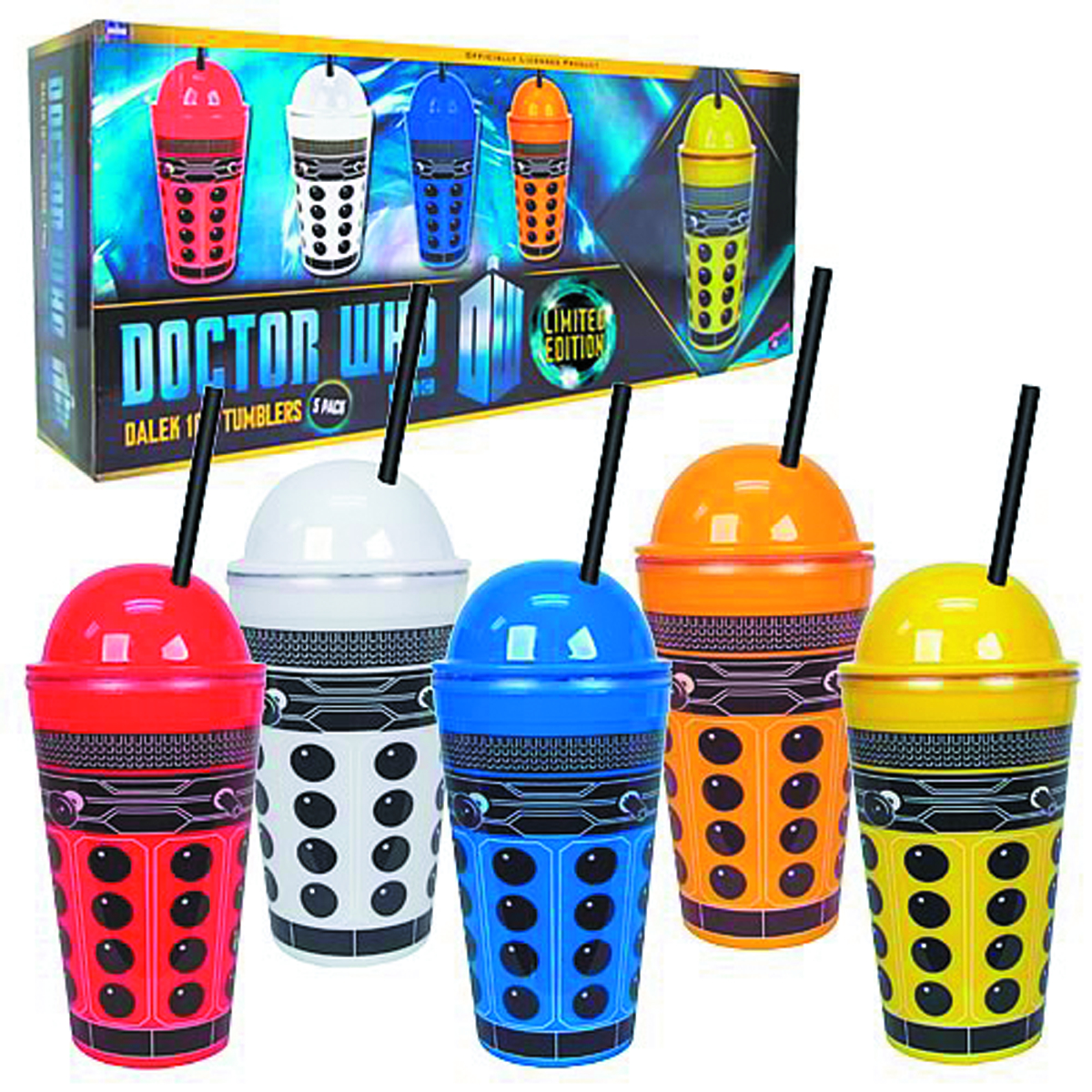 DOCTOR WHO DALEK 16OZ TUMBLER 5-PACK
