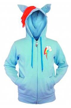 MY LITTLE PONY RAINBOW DASH CUTIE HOODIE XL