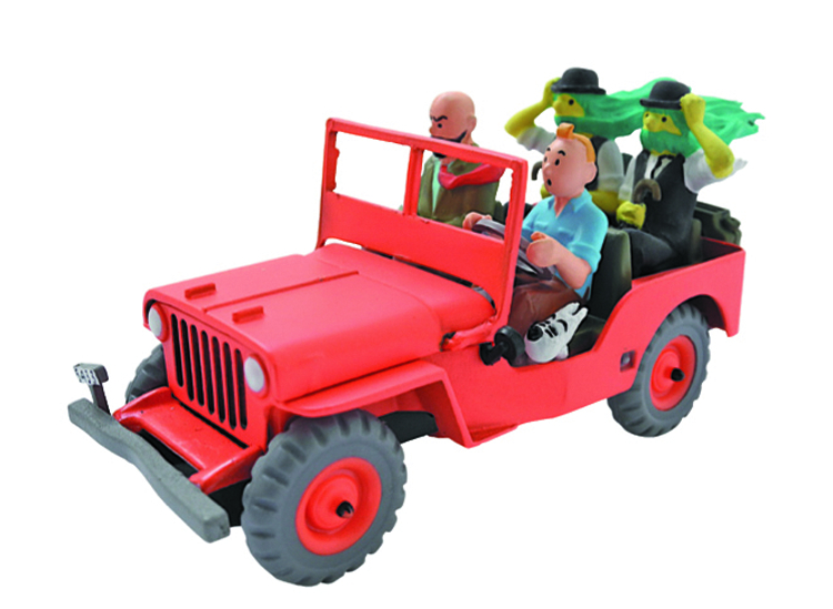 TINTIN TRANSPORTS WILLYS JEEP