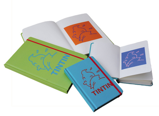 TINTIN GREEN 21 X 13CM NOTEBOOK