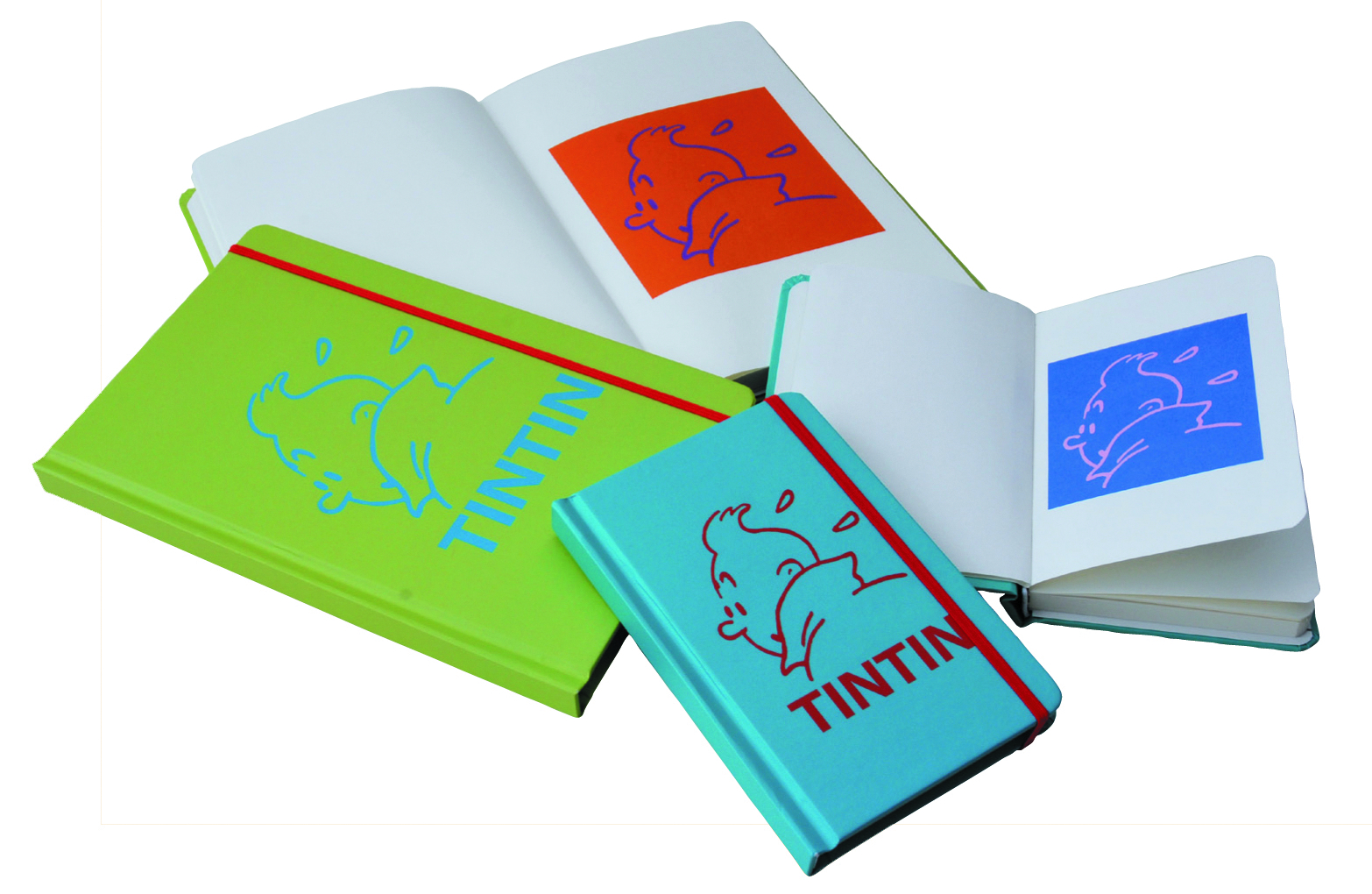 TINTIN BLUE 14 X 9CM NOTEBOOK