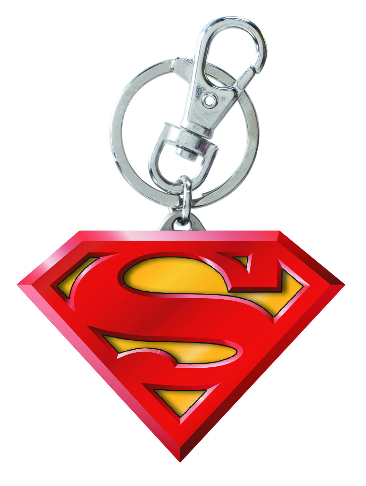 SUPERMAN LOGO LASER CUT KEYRING