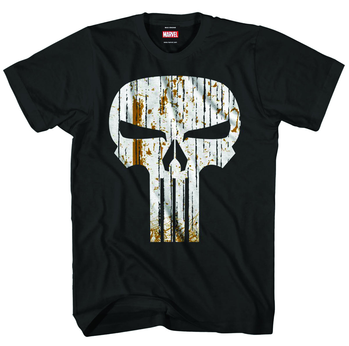PUNISHER STRAW FACE CHARCOAL T/S LG