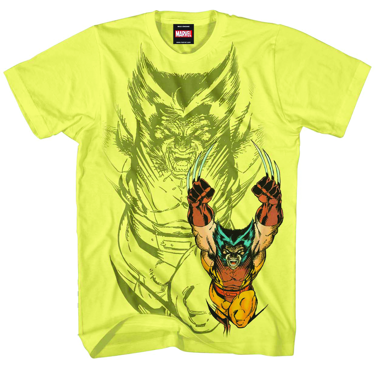 WOLVERINE X-RAGE PALE YELLOW T/S MED