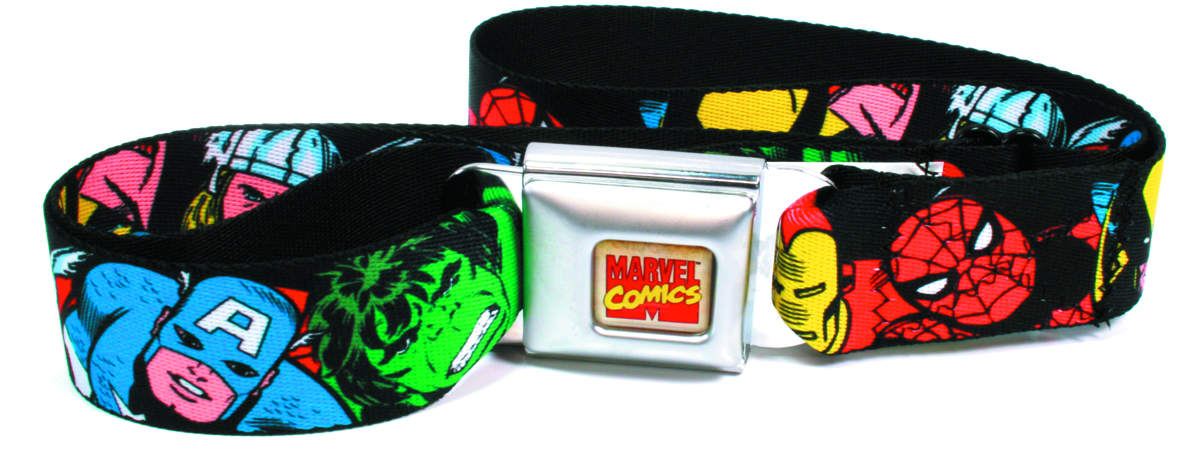 MARVEL HEROES COLLAGE SEATBELT BELT