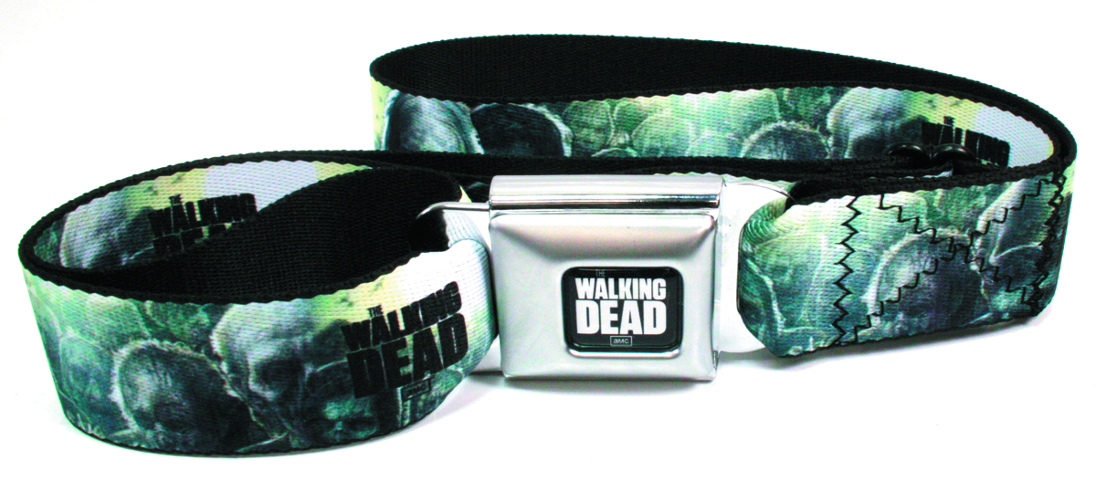 WALKING DEAD LOGO ZOMBIE SEATBELT BELT