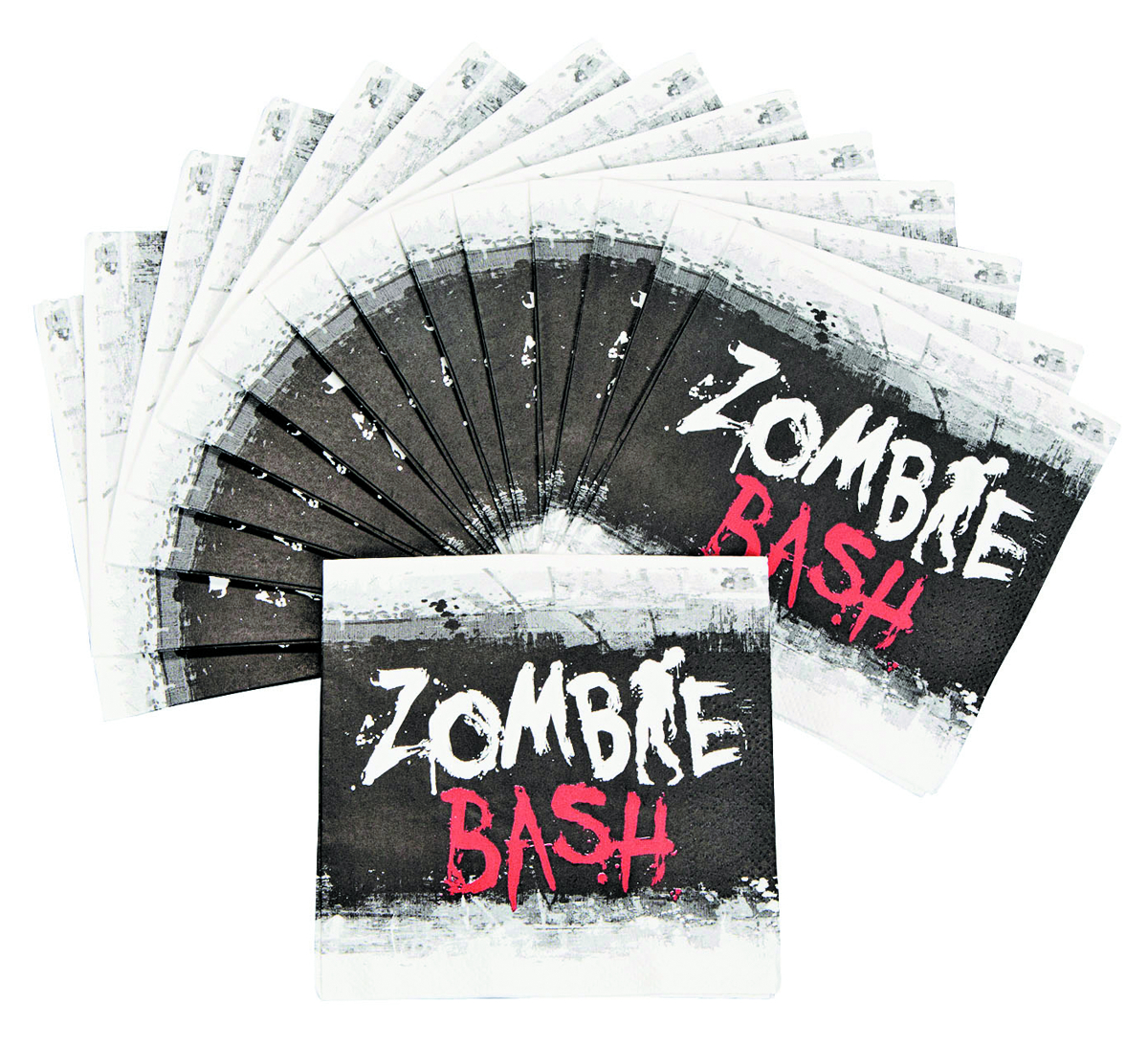 ZOMBIE PARTY BEVERAGE NAPKINS 16PC PK