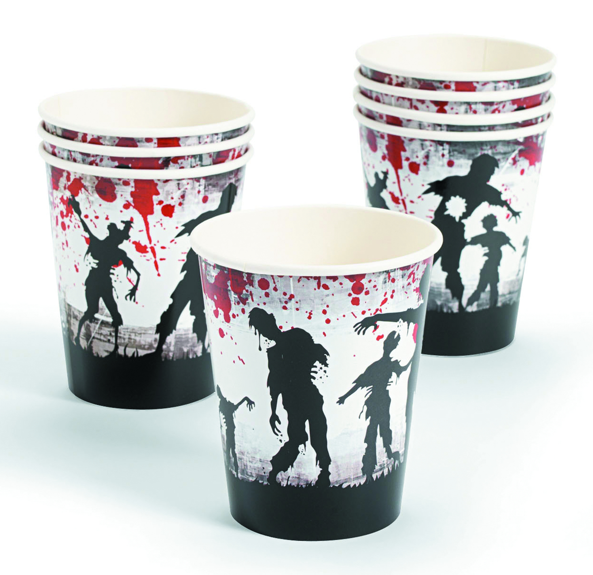 ZOMBIE PARTY PARTY CUPS 8PC PK