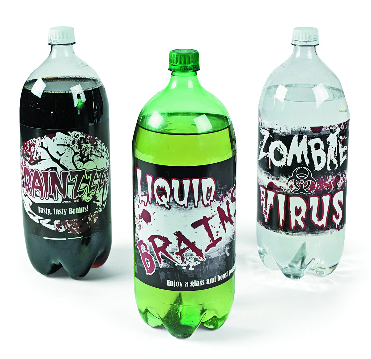 ZOMBIE PARTY PAPER ZOMBIE 2-LITER DRINK BOTTLE LABELS 1DZ