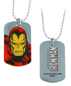IRON MAN UPCLOSE DOG TAG NECKLACE