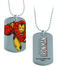 IRON MAN FLYING DOG TAG NECKLACE