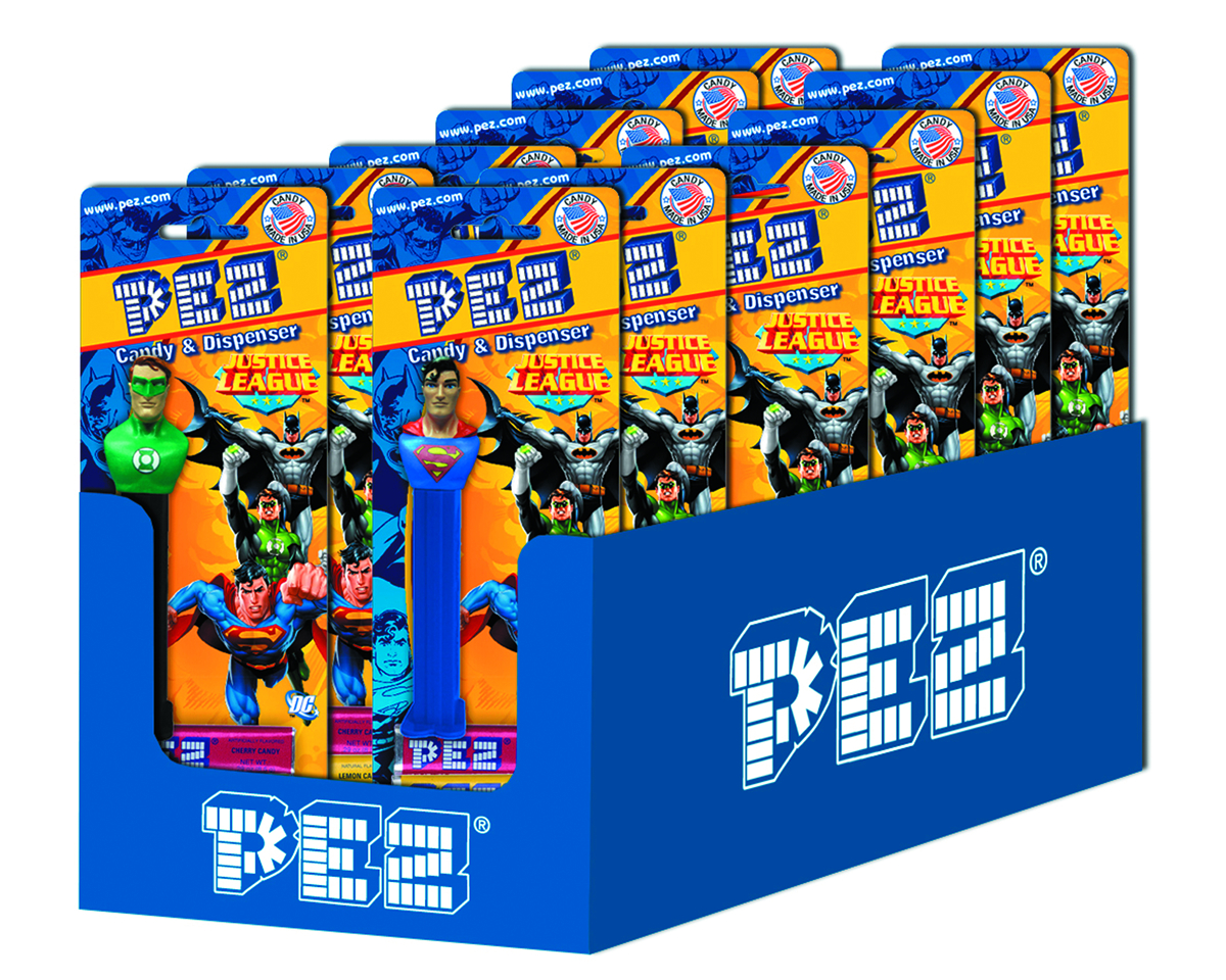 PEZ MAN OF STEEL MOVIE BLISTER PACK ASST