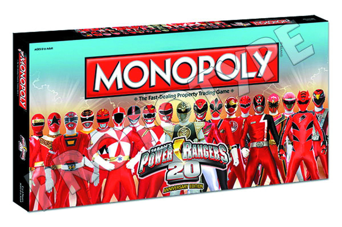 POWER RANGERS 20TH ANNIVERSARY MONOPOLY