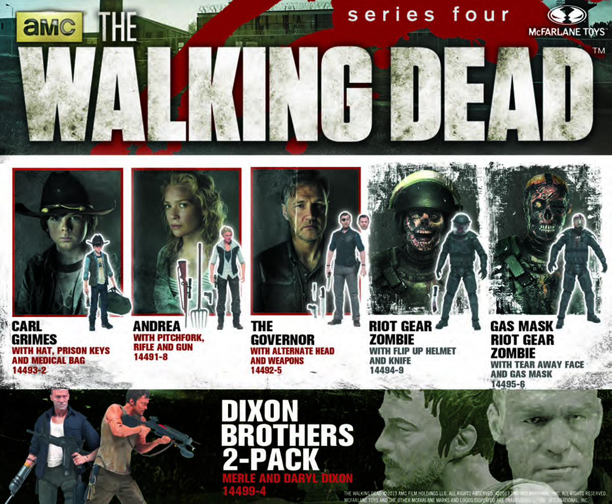 WALKING DEAD TV SERIES 4 AF ASST