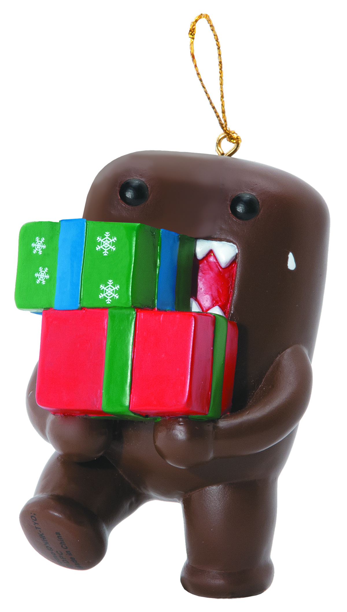 DOMO RESIN ORNAMENT DOMO CARRYING GIFTS