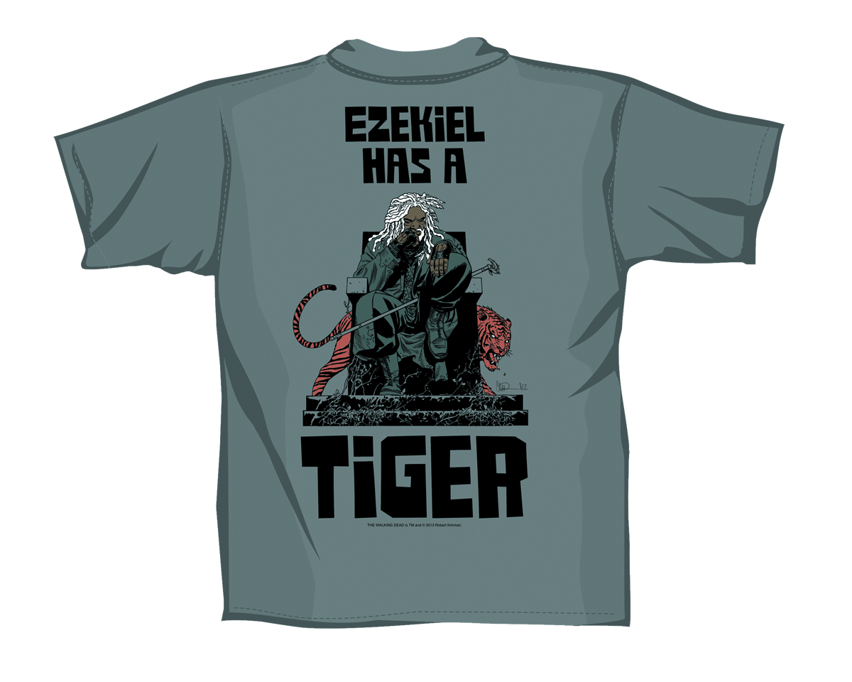 WALKING DEAD EZEKIEL HAS A TIGER T/S MENS MED