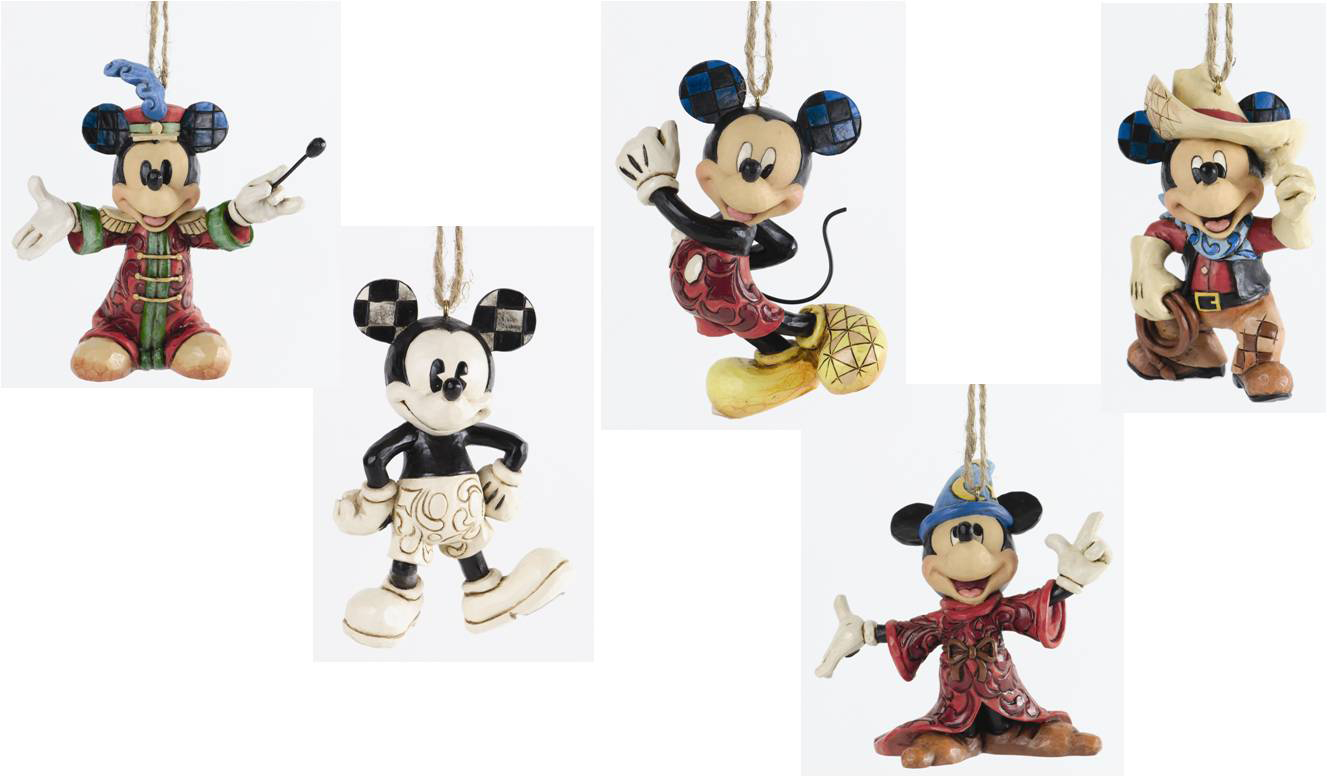 MICKEY THROUGH THE YEARS ORNAMENT SET