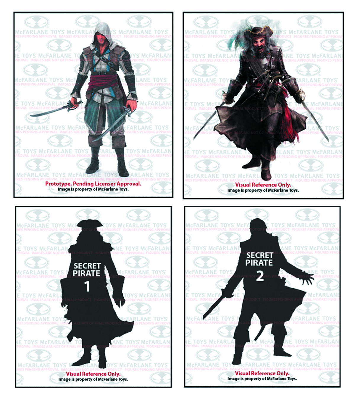 ASSASSINS CREED SER 1 PIRATE AF 4-PK CS