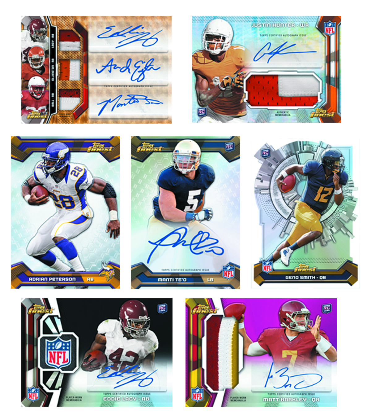 TOPPS 2013 FINEST FOOTBALL T/C BOX