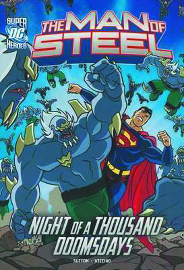 DC SUPER HEROES MAN OF STEEL YR TP SUPERMAN VS DOOMSDAY ARMY